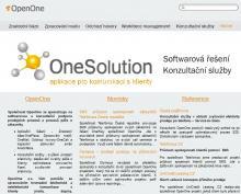 front-page OpenOne webové stránky